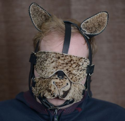 Limited Edition Fur Cougar Kitty Play Head Harness
